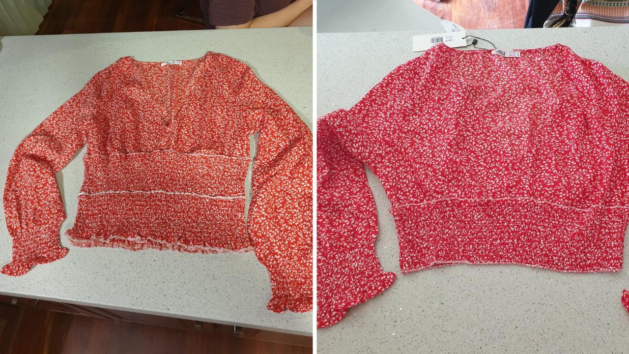 Red Shirt Shortened