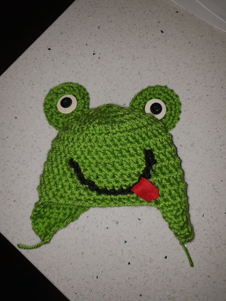 Baby Beanie Frog