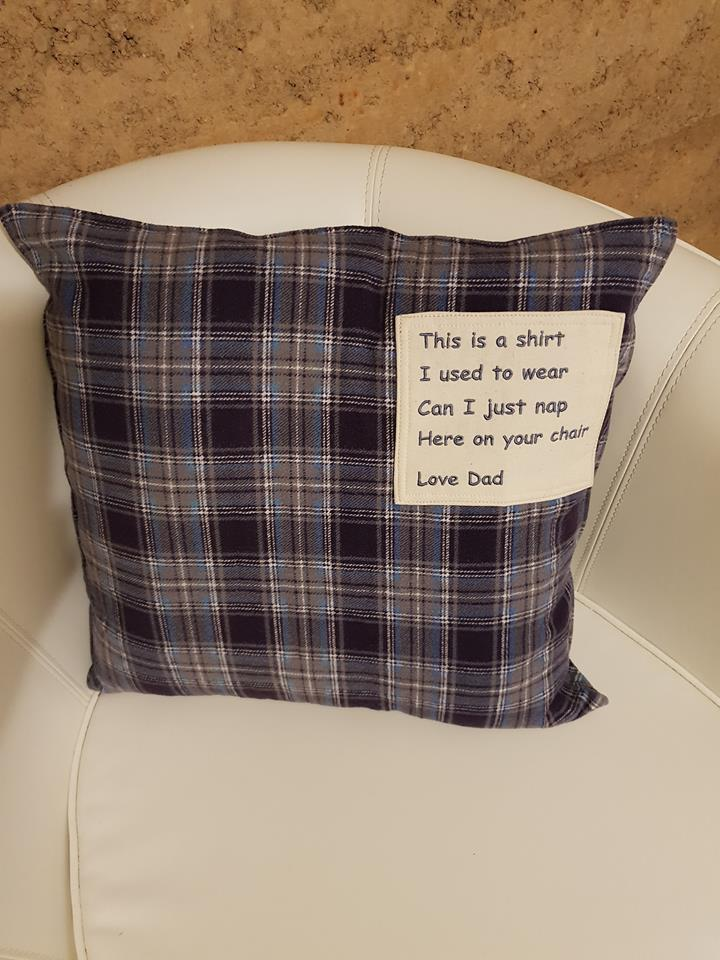 Create a pillow from a loved shirt