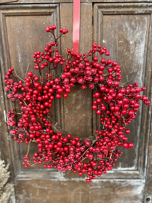 Bold Red Berry Wreath