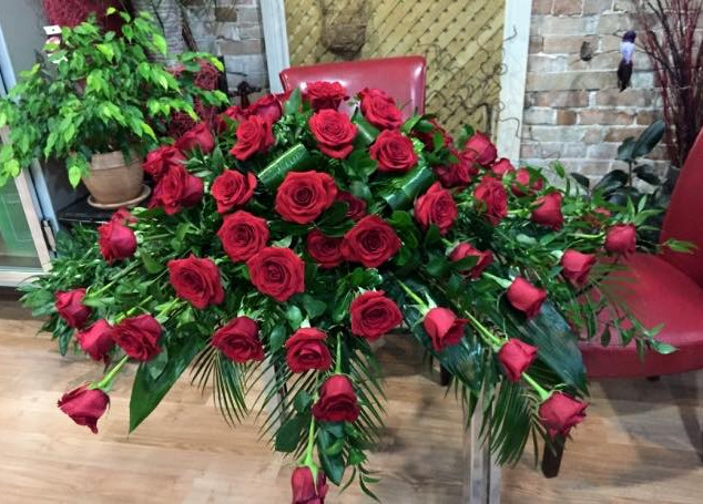 """""""Red Rose Funeral Piece"""""""