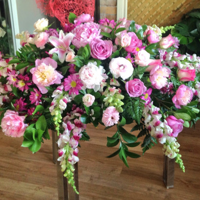 """Pink Beauty Funeral Piece"""