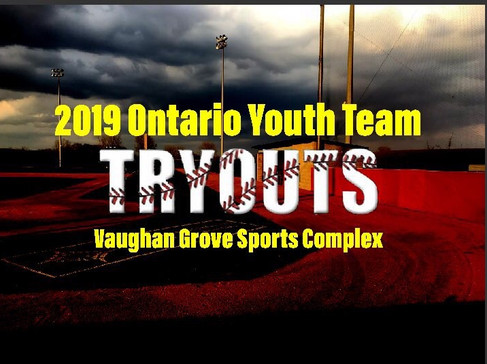 2019Baseball Ontario Youth Team Tryouts