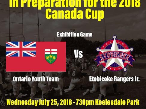 Ontario Youth Team vs Etobicoke Rangers
