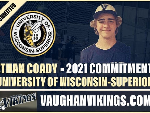 Ethan Coady Commits to University of Wisconsin-Superior
