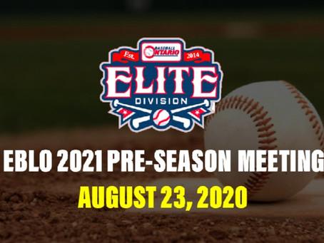 2021 EBLO Pre-Season Meeting