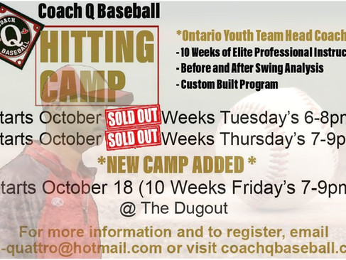 *NEW HITTING CAMP ADDED*