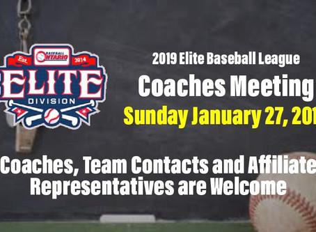 2019 Elite Division Meeting
