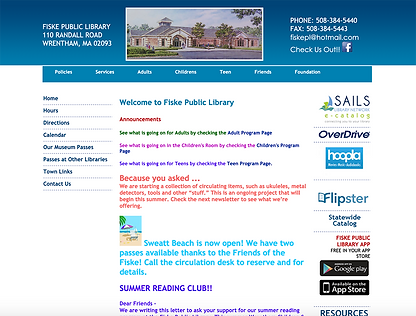 Fiske Lib old home page screenshot.png