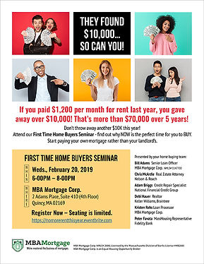 First Time Home Buyers Flyer