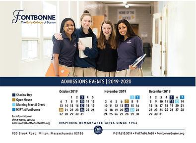 Fontbonne Admissions Calendar