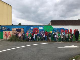 Graffitiproject 5LB : de muur is klaar !