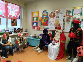 Sinterklaas en Zwarte Piet op school !