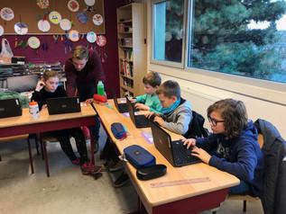 STEM in 5LB : De leerlingen leerden programmeren met het programma 'scratch'
