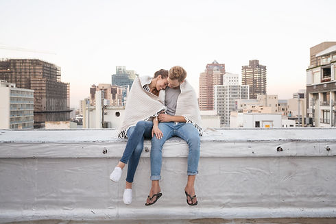 Couple in Rooftop Cuddling