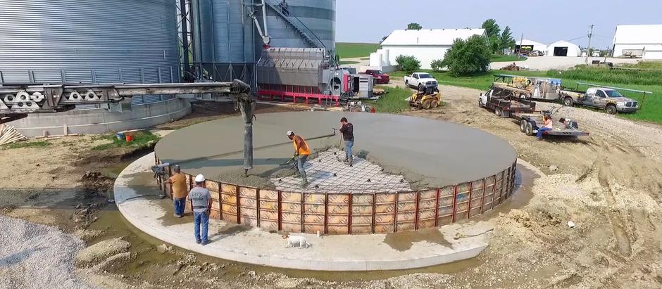 Circular Concrete Pours: Tips on Pouring a Circular Foundation for a Grain Bin