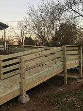 Access ramp for disabled veterans