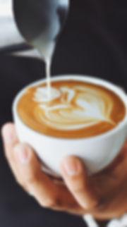 Kaffee im Café im Kurpark