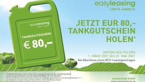 """Frühjahrsaktion """"Tankgutschein in Höhe von EUR 80,-"""""""