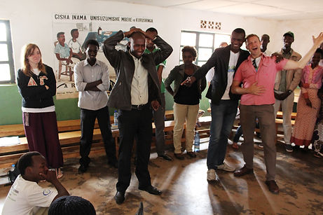 Image theater workshop with Congolese refugee youth at Gihembe Camp in Rwanda (2014)