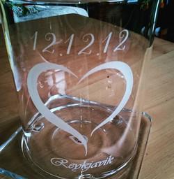 Bryllupslykt til minne om vårt bryllup på Island 12.12