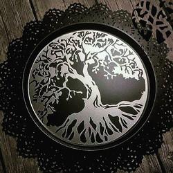 #livstreet #Odin #pyntefat #BirilDesign #tilsalgs #treeoflife #yggdrasil #vinyl #plate #homemade
