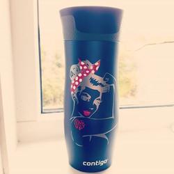 Vi har fått nye, stilige #termokopper fra #contigo som vi #gledeross til å #teste ut! #momlife #ther