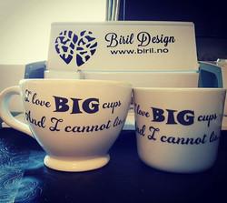 Digger våre nye #te #kopper #teacups #BirilDesign #klarforhøsten #fall #livpåøyro #osøyro #stormpåve