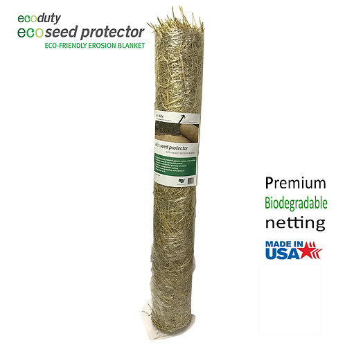 Econet Single Net Degradable 4' by 50' Straw Erosion Control Blanket