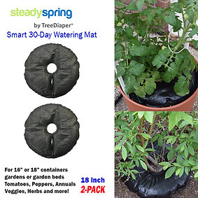 "SteadySpring 30-Day Smart Watering Mat (2-pack) for 10"",12"" and 14"" containers"