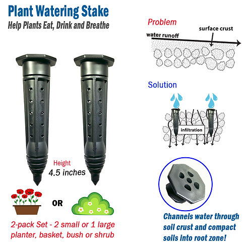 """RootSource 4.5"""" Plant Watering Stake"""