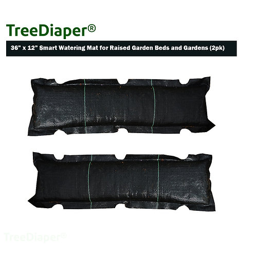 TreeDiaper Smart Watering Mat for Raised Garden Bed (2-Pack)