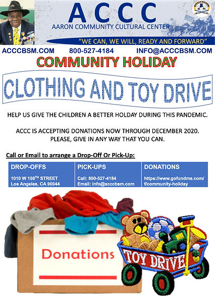 Community Holiday - Clothing and Toy Dri