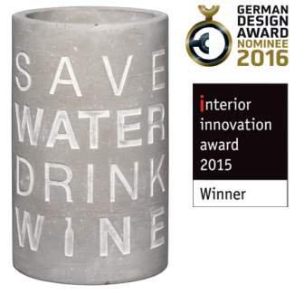 """Weinkühler """"save water drink wine"""" RÄDER Design"""