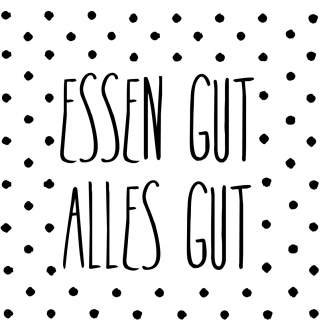 """Serviette """"Essen gut, alles gut"""" RÄDER Design"""