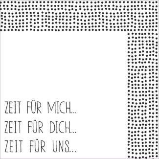 """Cocktailserviette """"Zeit für mich"""" RÄDER Design"""