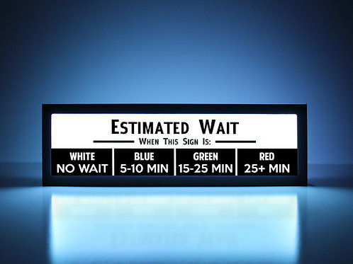 Estimated Wait Time Sign