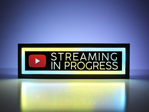YouTube Streaming in Progress Sign