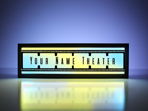 Custom Theater Film Strip Sign