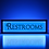 Thumbnail: Vintage Restrooms Sign
