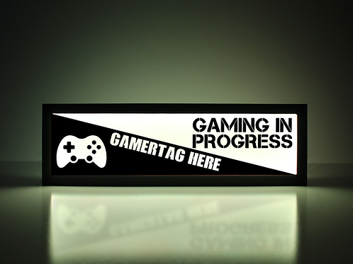 Custom Xbox Gaming In Progress Sign