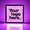 "Thumbnail: Custom Message: 15""x5"" - standard black"