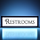 Thumbnail: Vintage Restrooms Sign