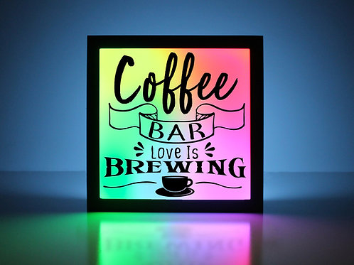 Love is Brewing Coffee Bar Sign