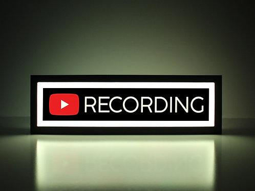 YouTube Recording Sign