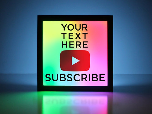 Custom YouTube Sign - Your Text Here