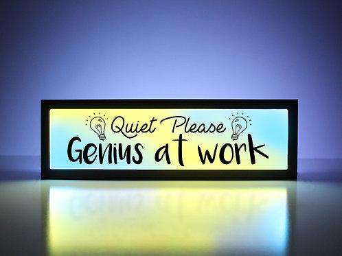 Quiet Please - Genius at Work