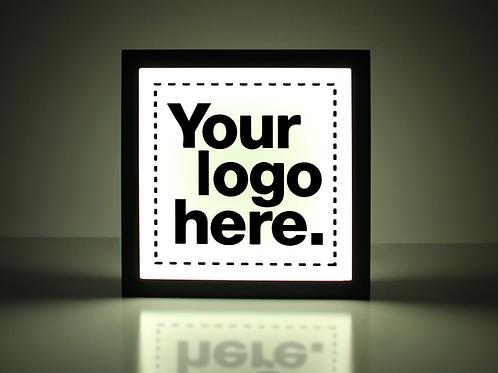 "Custom 20""x15"" Logo Sign - Standard Black"
