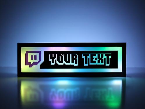 Custom Twitch Sign