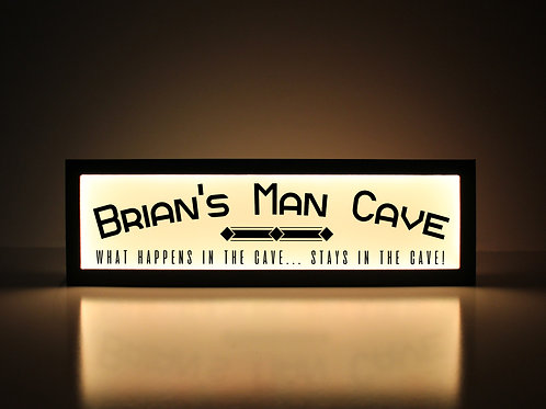 Custom Man Cave Sign - What Happens in the Cave